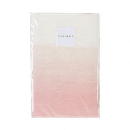 Nappe en papier tie and die rose - 180 cm