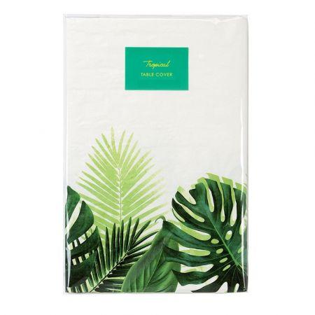 """Nappe en papier """"feuilles exotiques""""- 180 cm"""