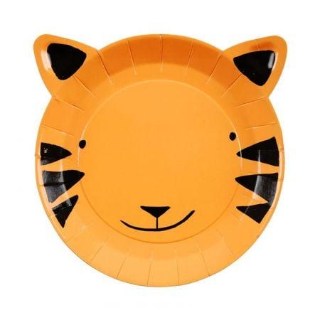 """12 assiettes """"tête de tigre"""""""
