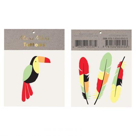 """Tatouages temporaires """"toucan"""""""