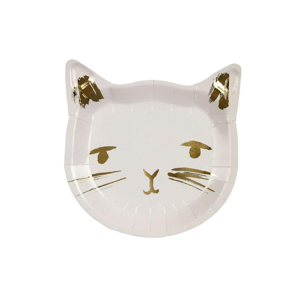 """8 assiettes """"tête de chat"""" - 18,5 cm"""
