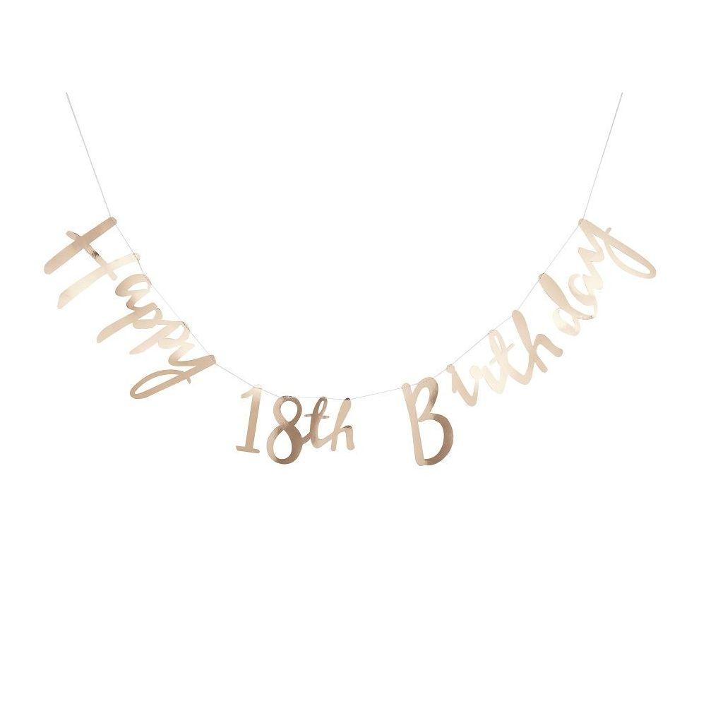 """Guirlande dorée """"HAPPY 18th BIRTHDAY"""""""