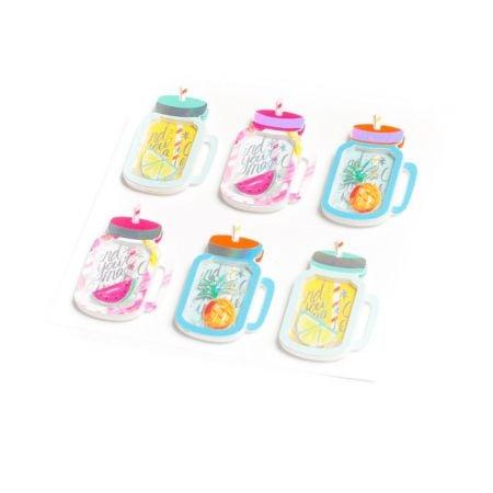 """6 stickers 3D """"mason jar"""""""