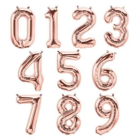 Ballon chiffre rose gold - 86 cm