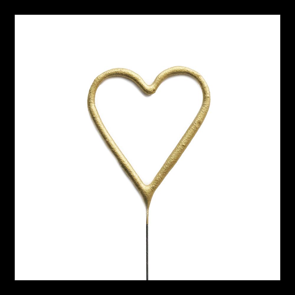 Étincelle cœur doré