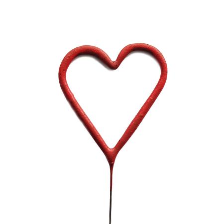 Étincelle cœur rouge
