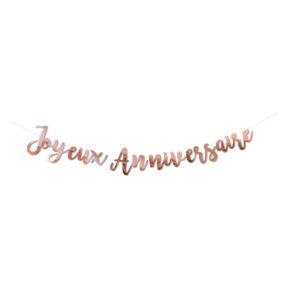 "Guirlande rose gold ""Joyeux anniversaire"""
