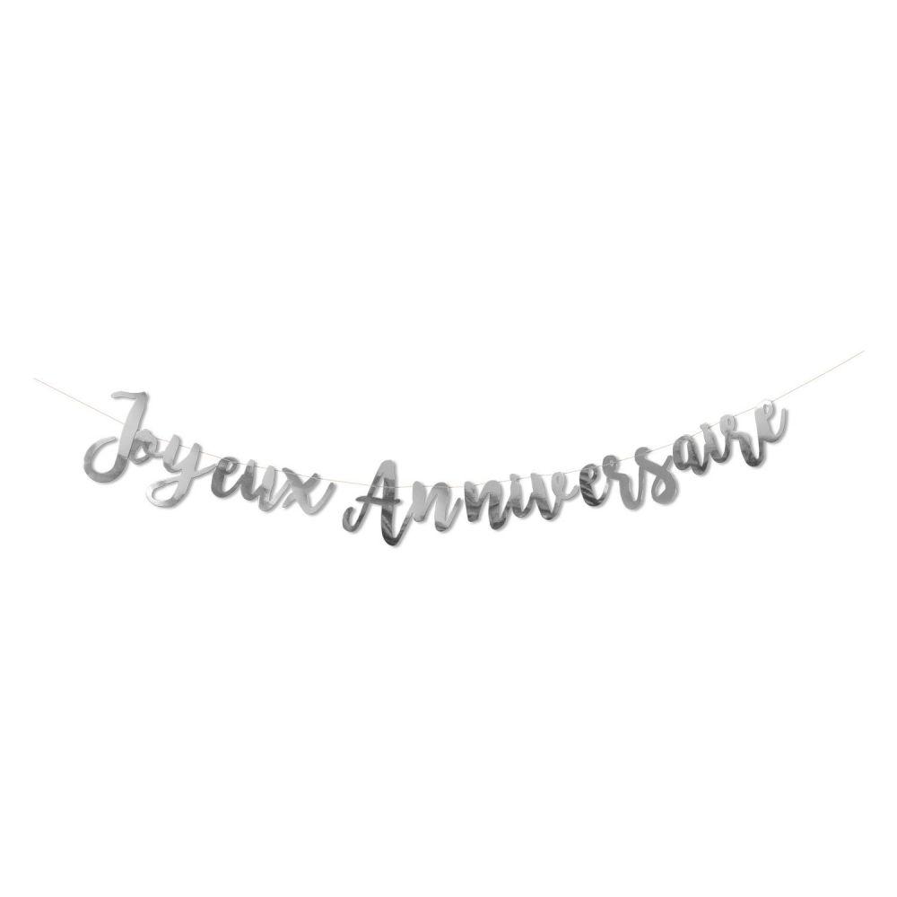 """Guirlande argentée """"Joyeux anniversaire"""""""