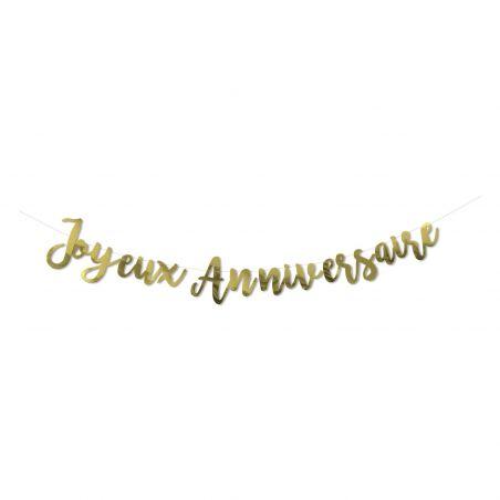 """Guirlande dorée  """"Joyeux anniversaire"""""""