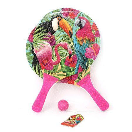 Jeu de raquettes tropicales