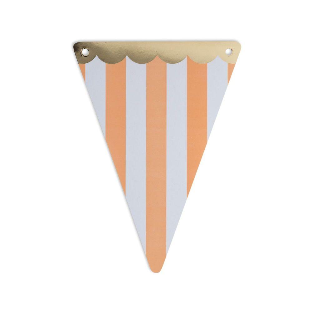 5 fanions rayures pêche en papier
