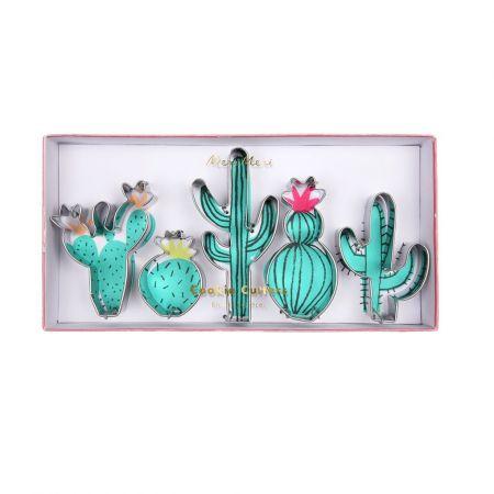 "5 emporte-pièces ""Cactus"""