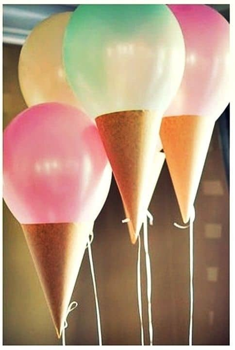 ballons cornet glace anniversaire enfant