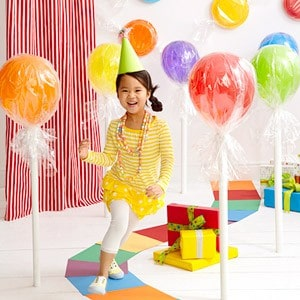 ballons sucette anniversaire enfant