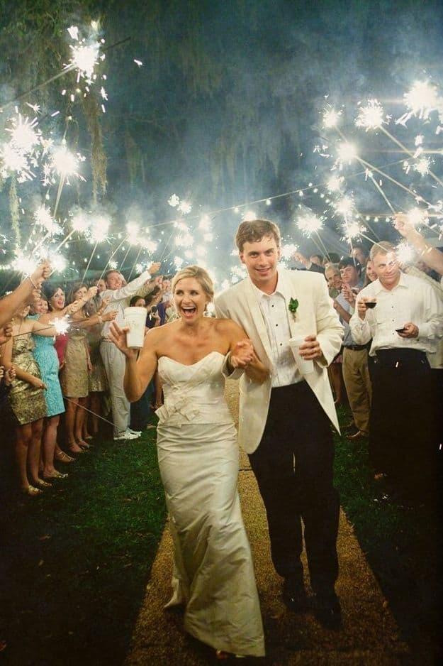etincelles sortie ceremonie mariage
