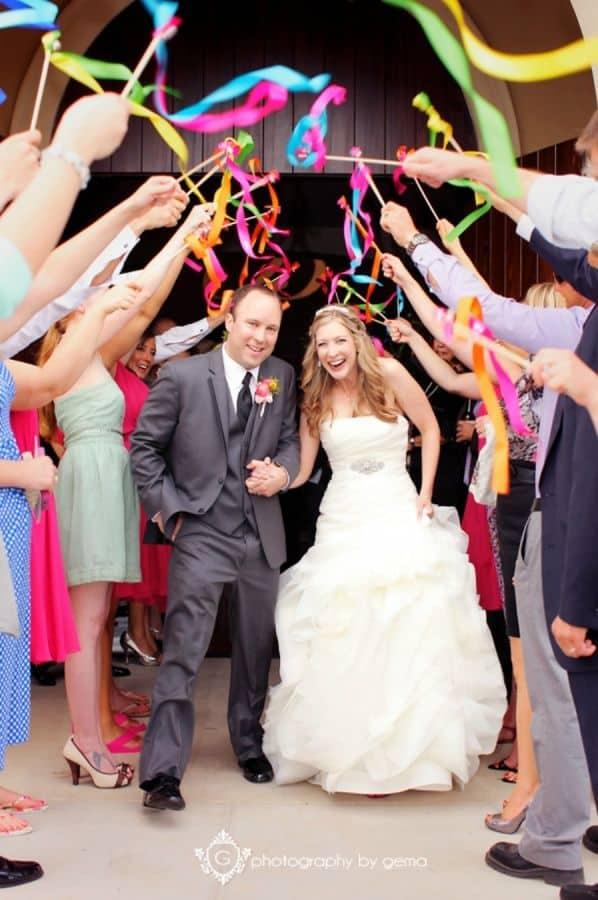 mariage ceremonie baguettes