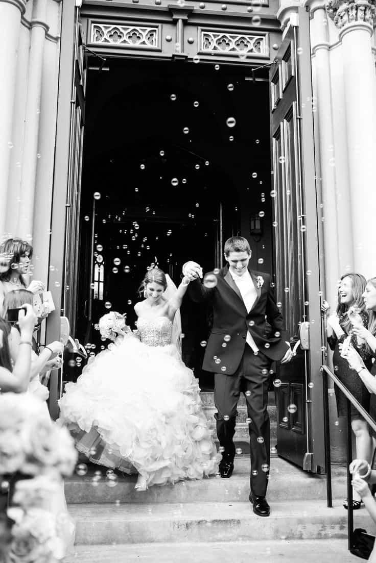 sortie de ceremonie bulles