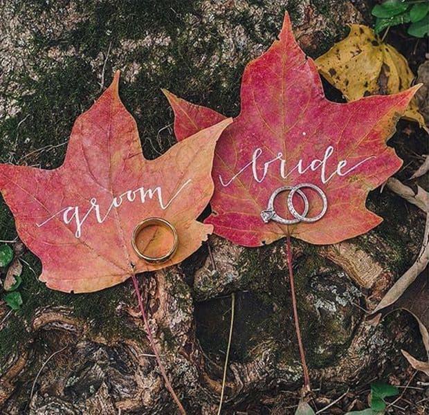 Mariage d'automne : quelques idées déco