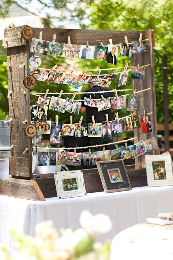 Cute Backyard Engagement Party Ideas : Les Supports D?alliances Se Veulent  Rustiques Aussi!
