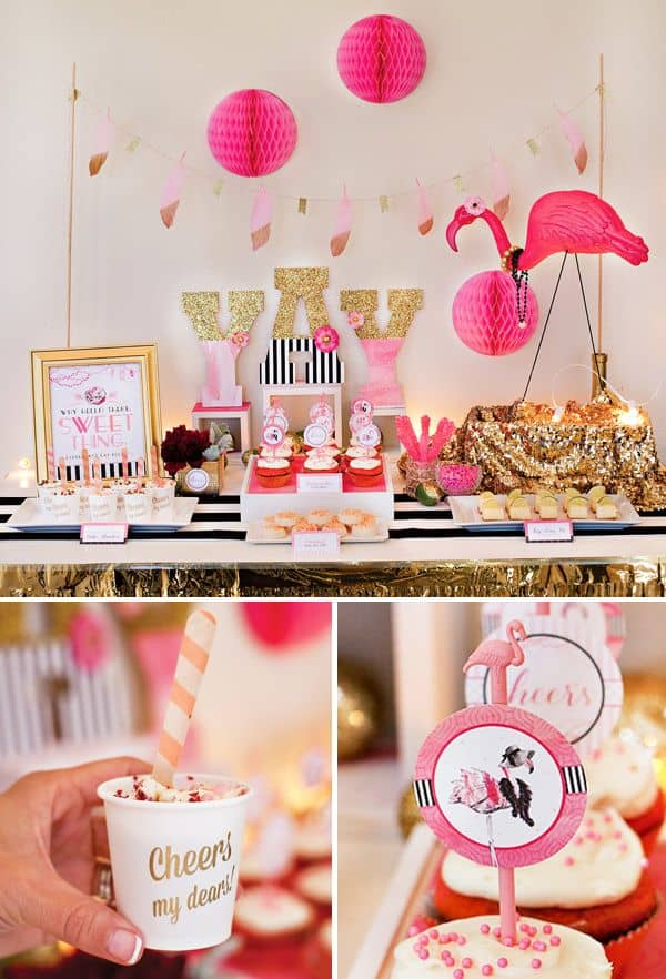 D co de f tes une flamingo party save the deco - Deco anniversaire flamant rose ...