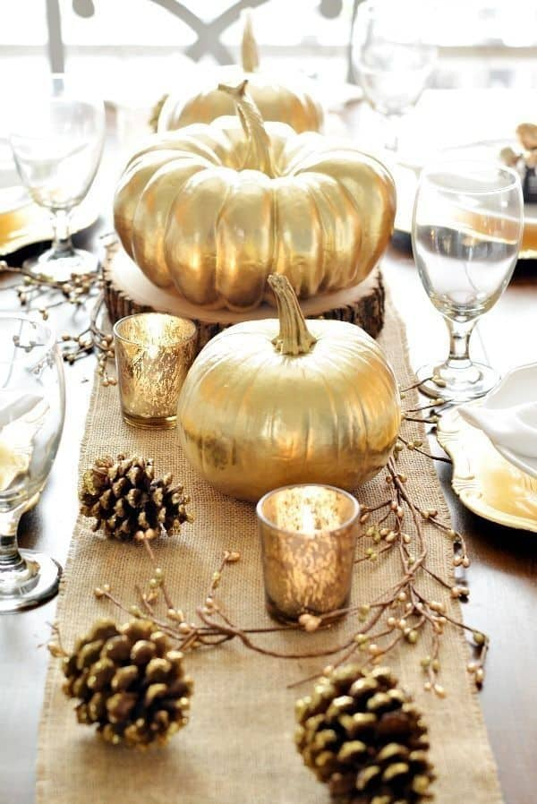 deco de table halloween gold