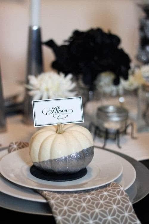 deco de table halloween white