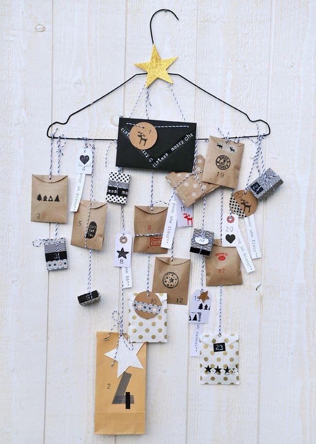 Idée DIY : un joli calendrier de l'avent pour Noël