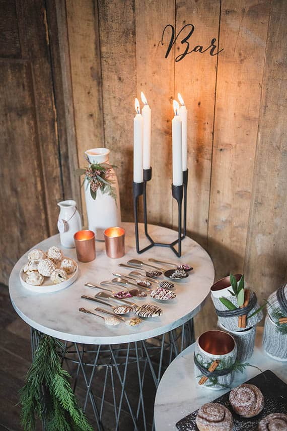 candy bar mariage scandinave tendance