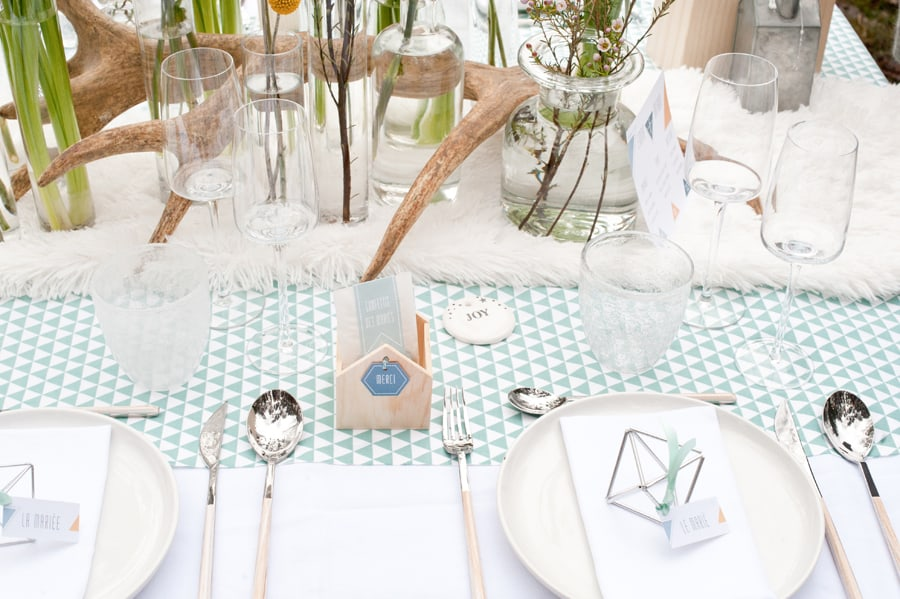 deco de table mariage candinave pastel