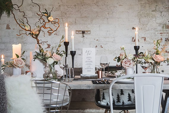 deco de table mariage scandinave