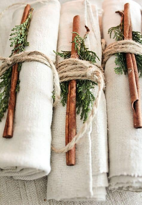 deco serviette mariage scandinave