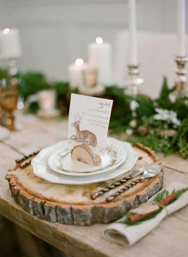 mariage scandinave deco de table mariage original