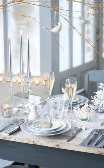 Une d co de table tendance pour no l save the deco - Deco table de noel blanc ...