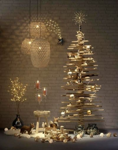 D co de no l des id es pour un sapin original save the deco - Sapin de noel original en bois ...