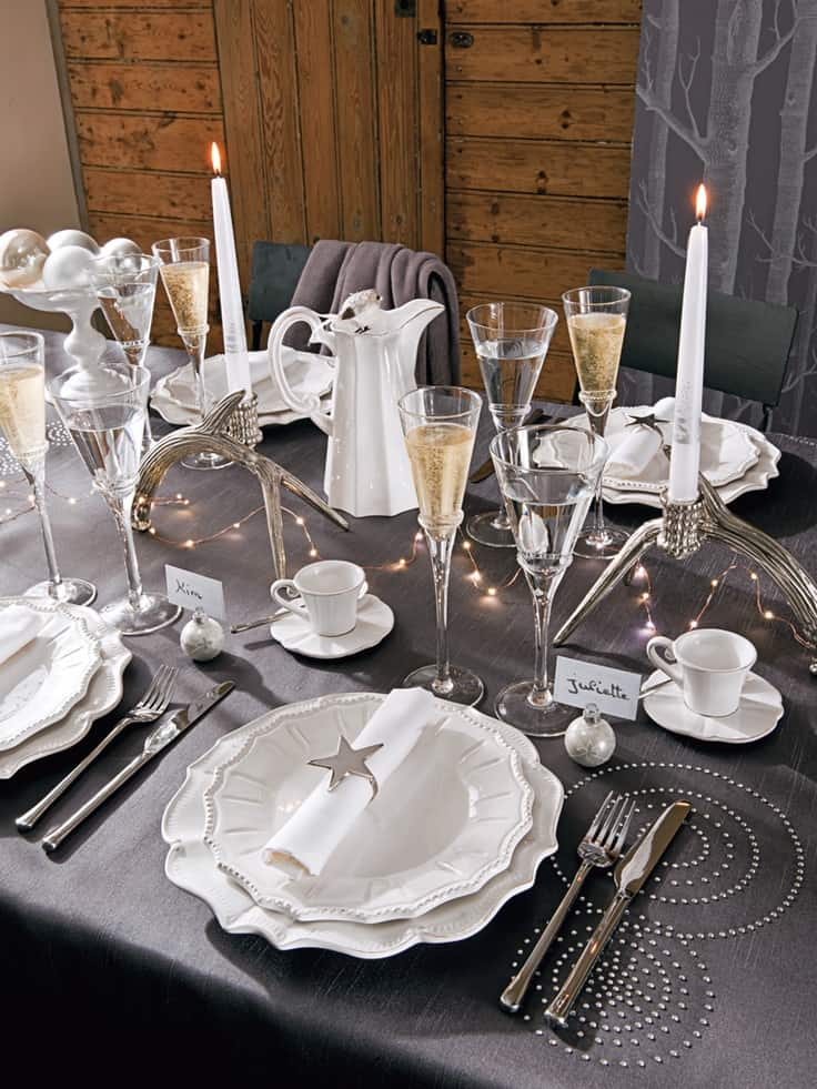 Une d co de table tendance pour no l save the deco - Idee de decoration de table pour noel ...