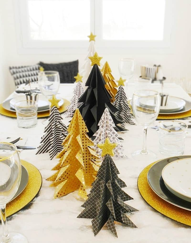 Une d co de table tendance pour no l save the deco - Sapin de noel decoration tendance ...
