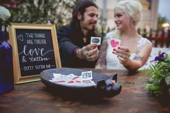 le tattoo bar une animation fun pour votre mariage save the deco. Black Bedroom Furniture Sets. Home Design Ideas