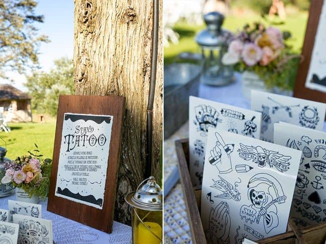 le tattoo bar une animation fun pour votre mariage. Black Bedroom Furniture Sets. Home Design Ideas