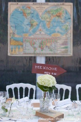 deco de table voyage mariage
