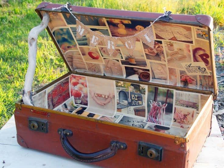 valise vintage mariage