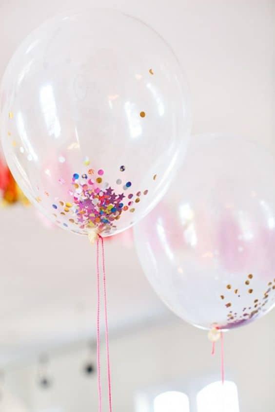 Balolons confettis