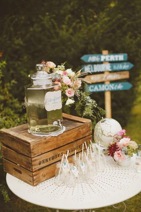 bar limonade mariage vintage
