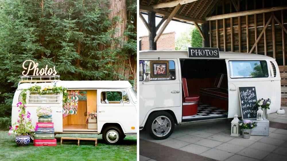 caravane photos mariage vintage