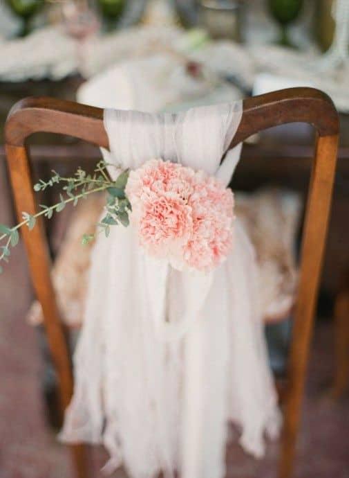 deco de chaise mariage vintage