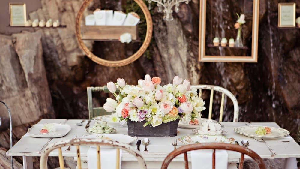 decoration mariage vintage table