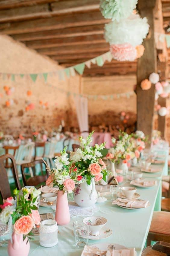 deo de salle mariage vintage