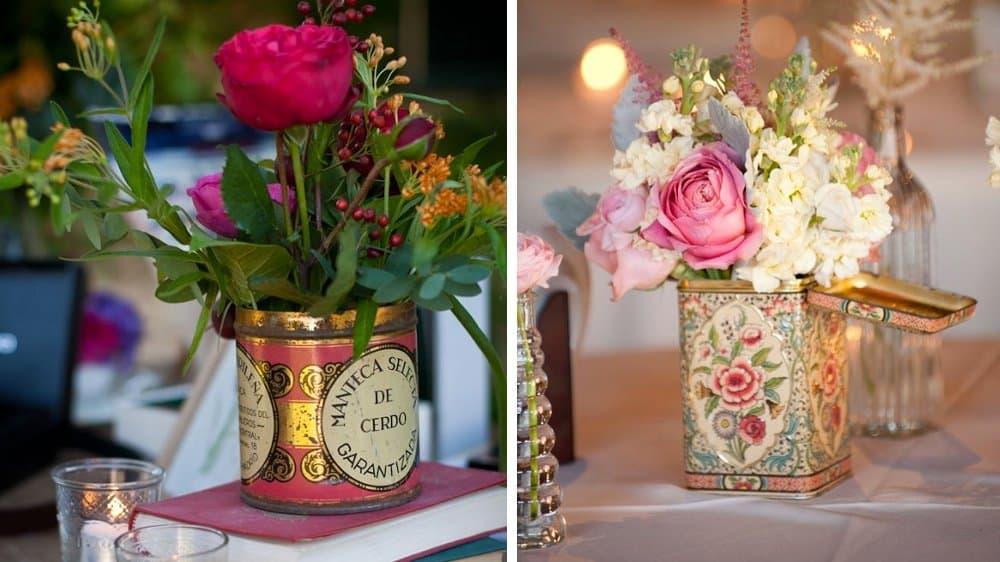 fleurs mariage vintage