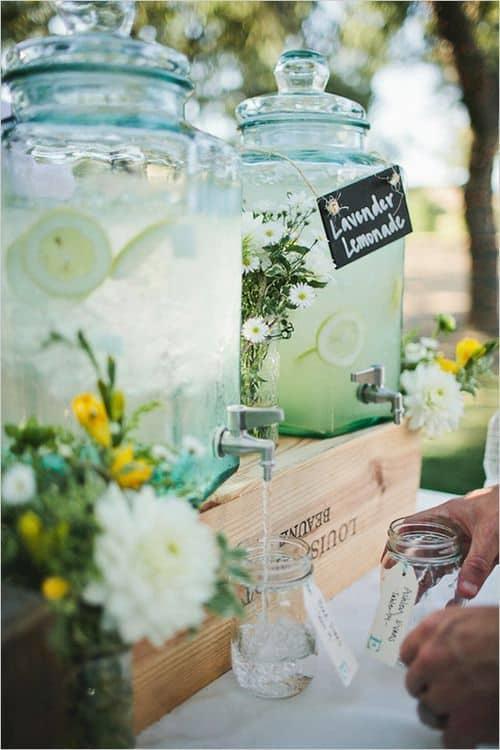 limonadier mariage vintage