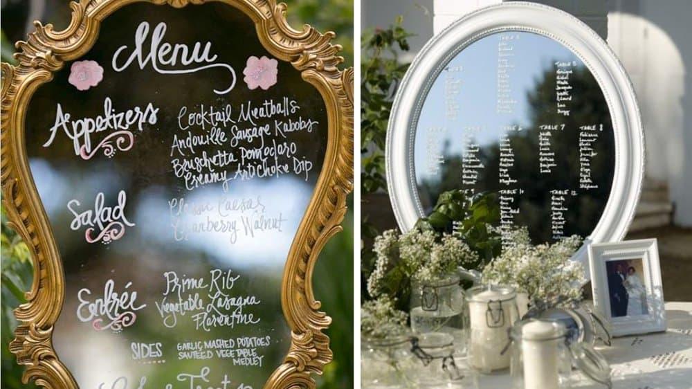 miroir mariage vintage