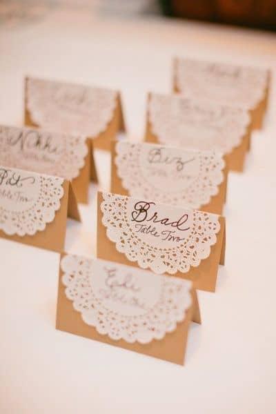 Marque place mariage champetre great marque place oiseau marque place oiseau with marque place - Porte nom de table fait main ...